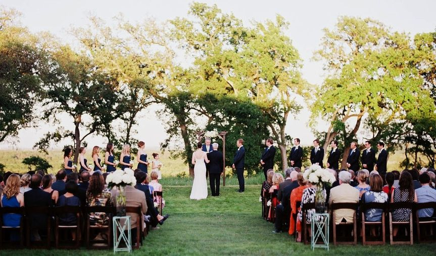 A wedding on the bluff at Merryvale