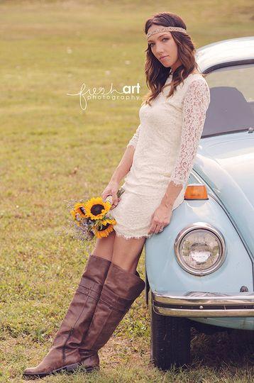 bride with car 3