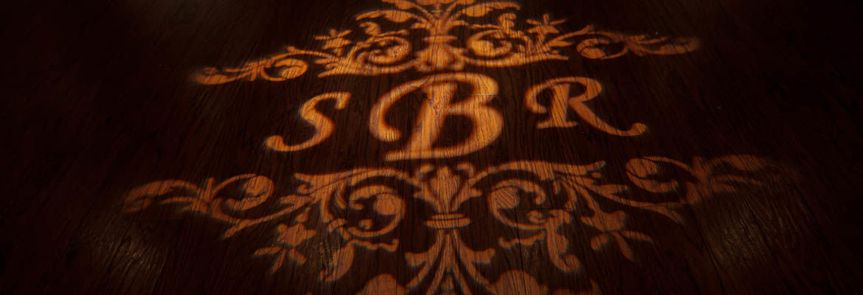 Initials on the dance floor