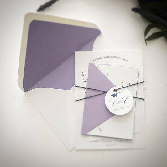 Lavender Wedding Invitation