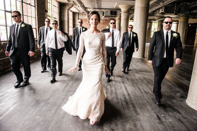 The bride with the gentlemens