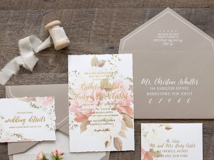 Tmx 1495135413875 Katherinefoil2  wedding invitation