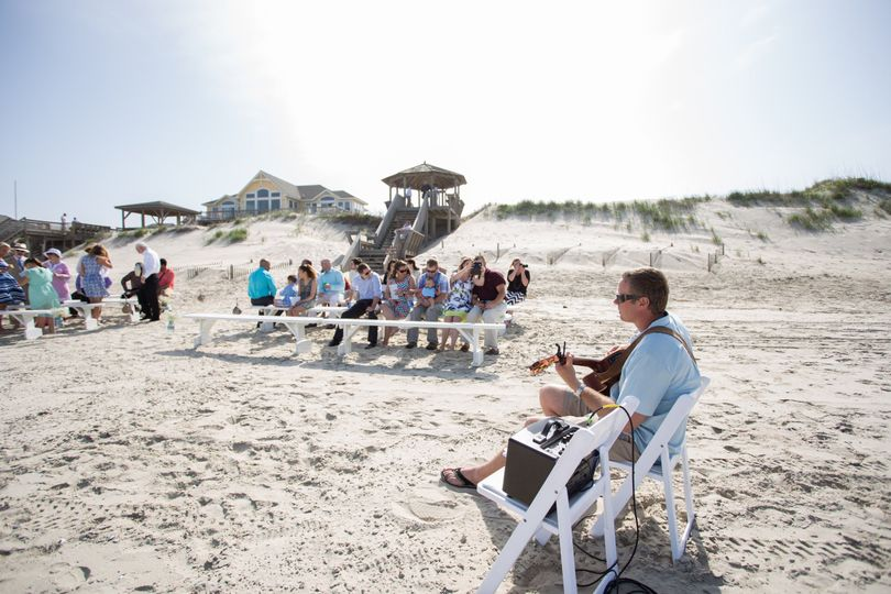 Acoustic solo instrumental guitar for beach ceremonies