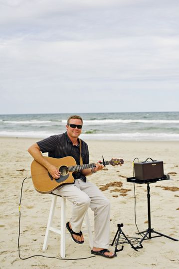 Beach Ceremonial music with battery powered amp.