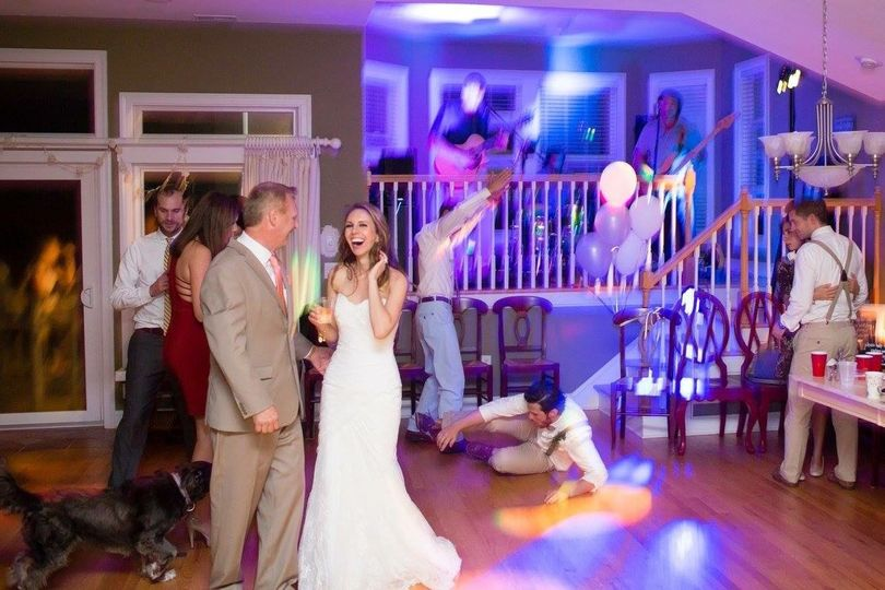 Wedding in Nags Head, NC at an oceanfront home.