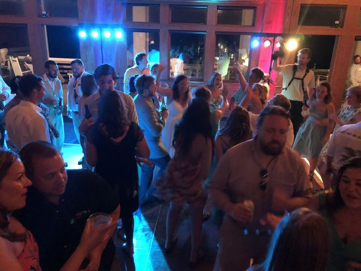 Wedding Reception DJ music for a couple at Jennette's Pier, Nags Head, NC. June 2, 2018