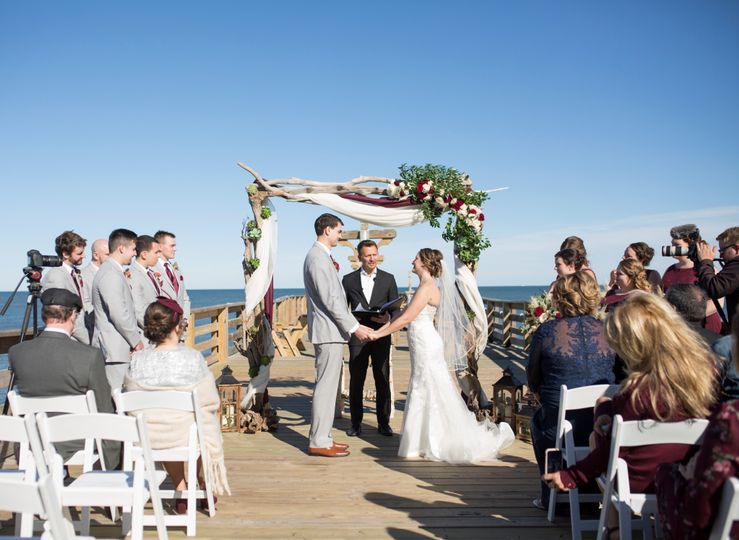 Ceremony on the pier