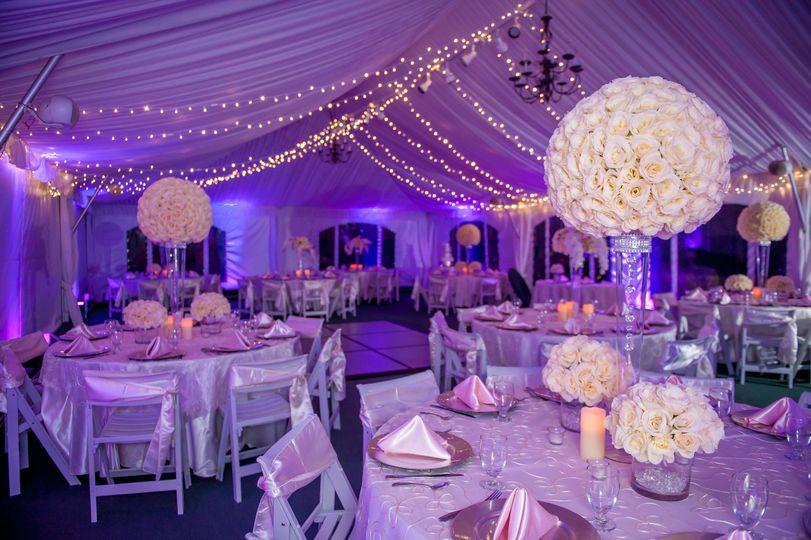 Venue with purple lighting