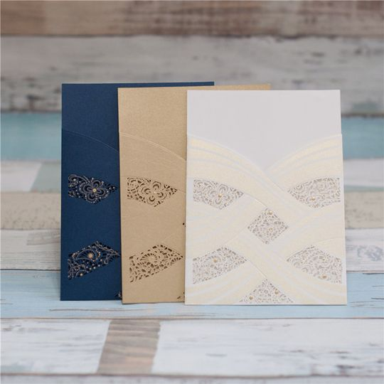 Blue and cream invitations