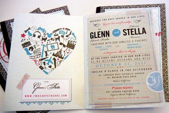 Tmx 1342494354187 Weddingstationerystellaglenn4 Chula Vista wedding invitation