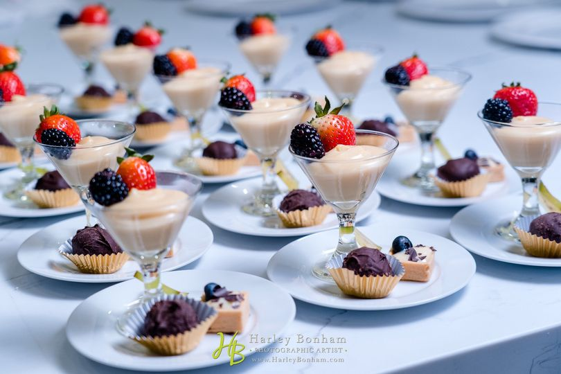 Plated Trio of Petite Sweets