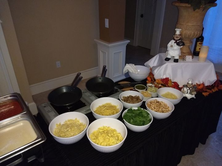 A Typical Pasta Station