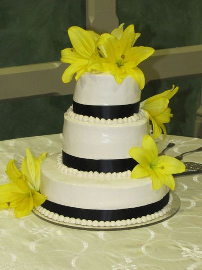 Yellow floral decorations