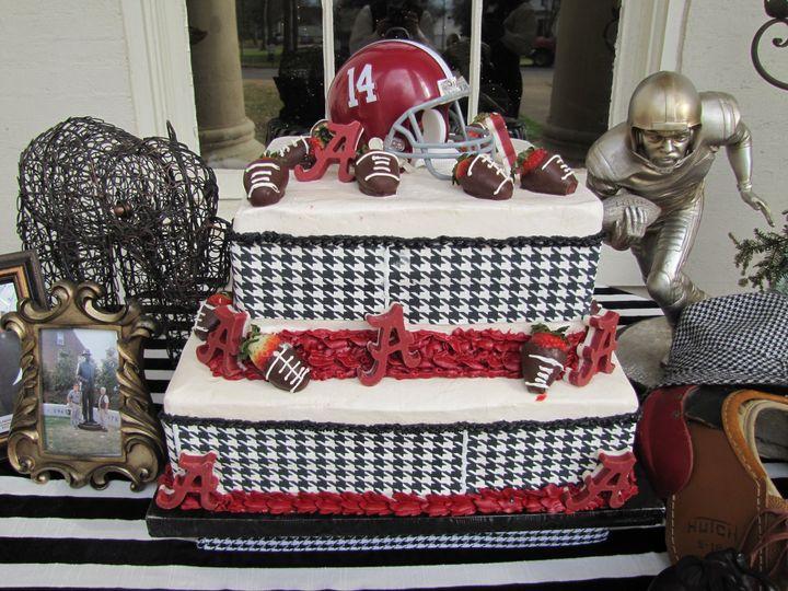 Football inspired cake