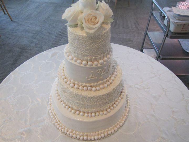 Plain white elegant cake