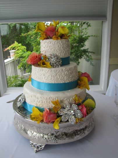 Colorful cake toppers