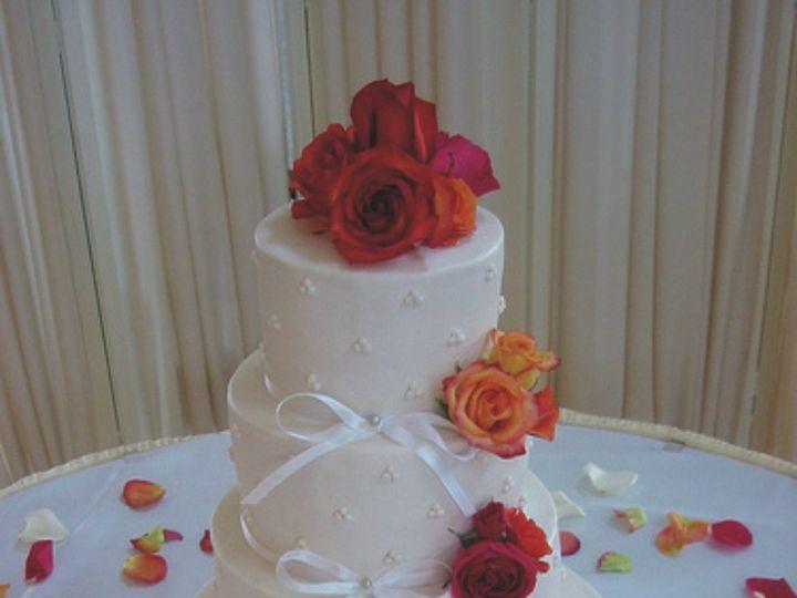 Tmx 1415586035691 Dainty Ribbonsdotsflowers Adrian wedding cake