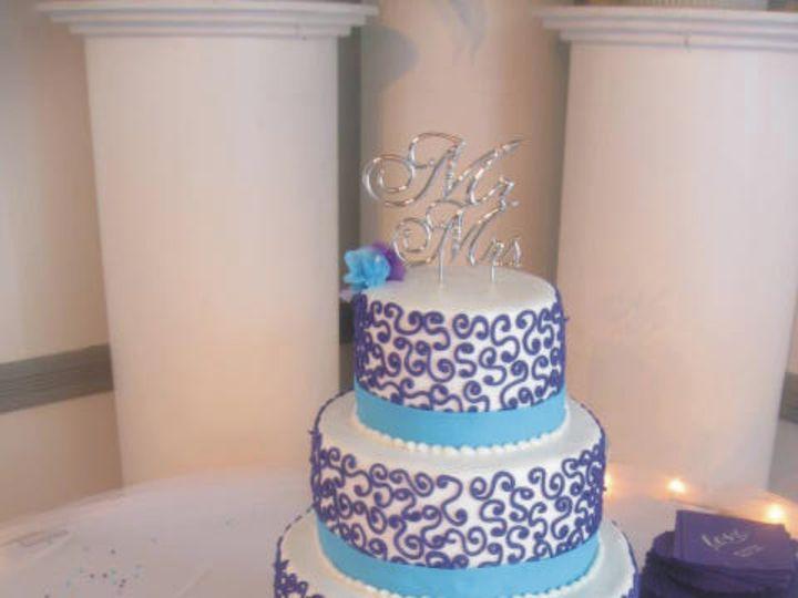Tmx 1415586059454 Frosting Laceribbons Adrian wedding cake
