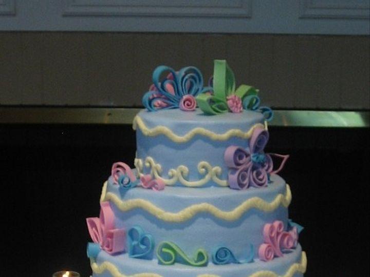 Tmx 1415586269542 Quilled Style Wed Cake Adrian wedding cake