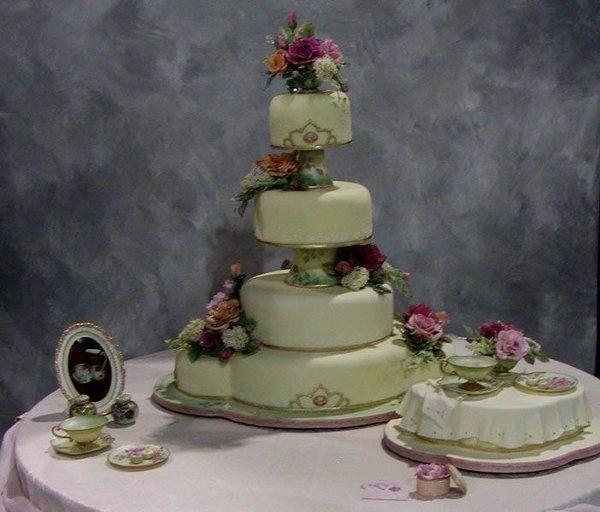 2003 Grand Prizewinner Sugar Teacups and Handmade Flowers