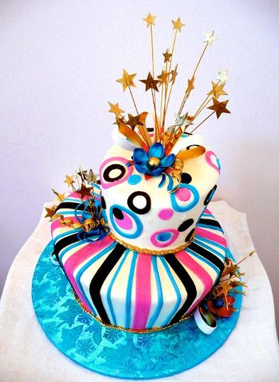 Shooting Stars Topsy Turvy Cake