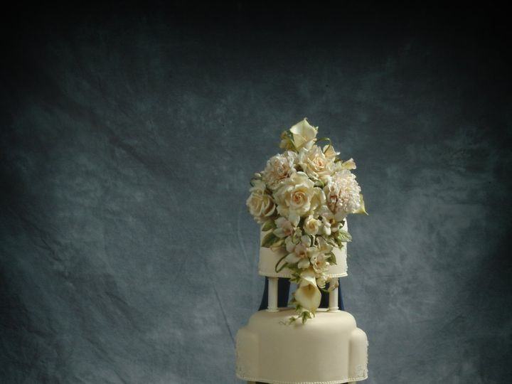 Tmx 1415588624425 Orchids And Roses Show Cake Spring Mills wedding cake