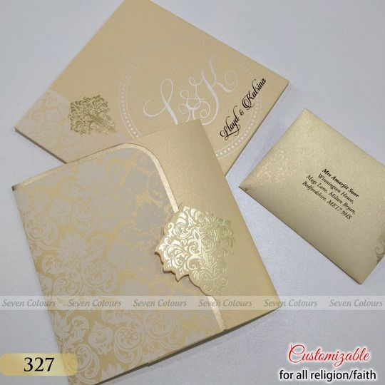 Sikh Wedding CardsCompletely customizable for any religions.