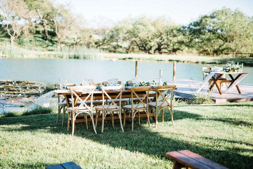 Pond tablescape