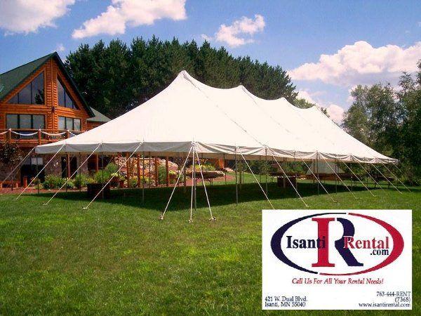 30 x 75 pole tent - seats 210 - 240