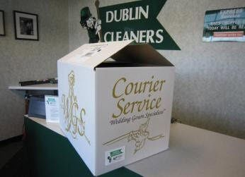 Dublin Cleaners now offers a statewide Wedding Gown Courier Service for wedding gown cleaning and...
