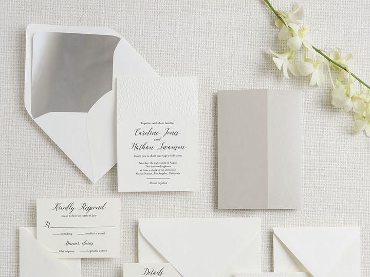 Tmx 1489594079730 Embossedwillow2 Chicago wedding invitation