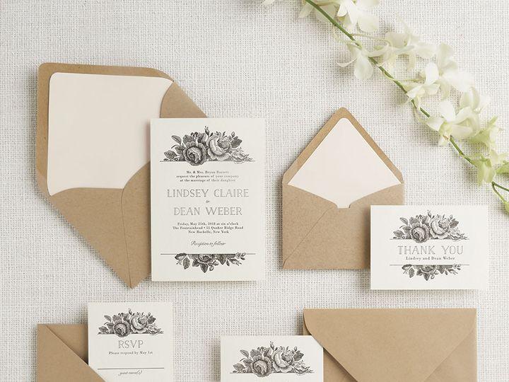 Tmx 1489594287348 Vintagefloral2 Chicago wedding invitation