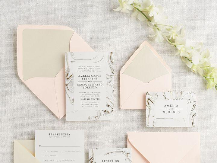 Tmx 1489595205534 Gildedmarble2 Chicago wedding invitation