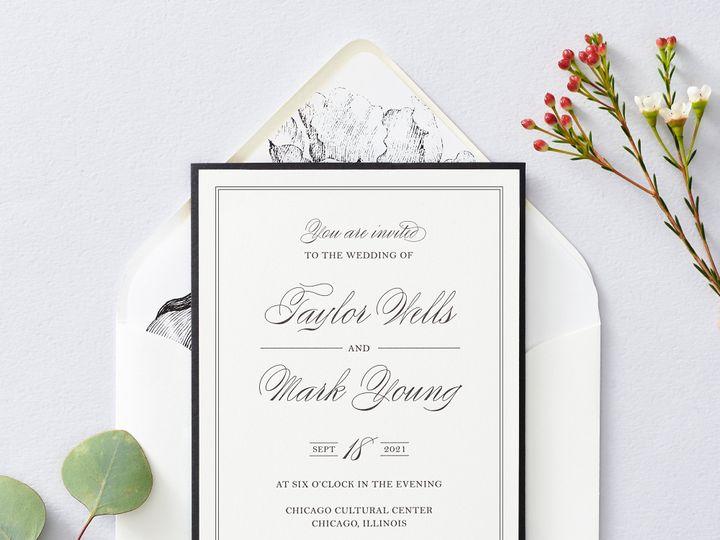 Tmx Blacktie 1 51 26706 Chicago wedding invitation