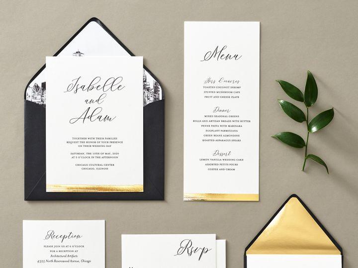 Tmx Brushstrokefoil 3 51 26706 Chicago wedding invitation