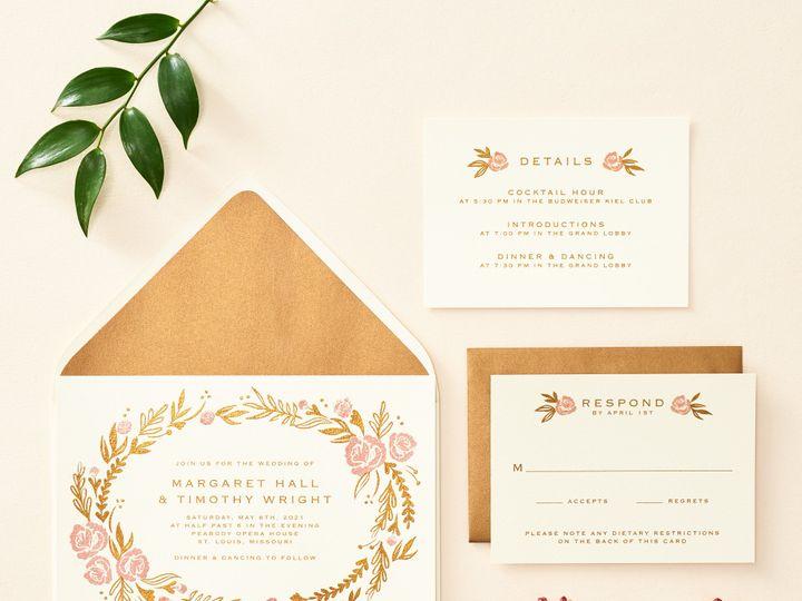 Tmx Rosegarden 2 51 26706 Chicago wedding invitation