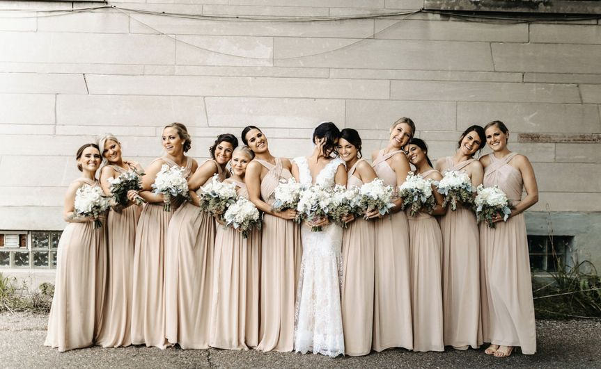 An elegant bridal party