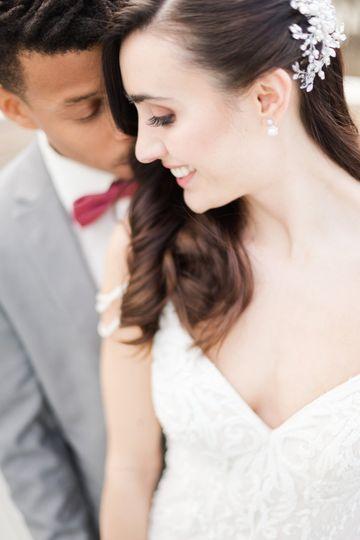 A loving wedding portrait