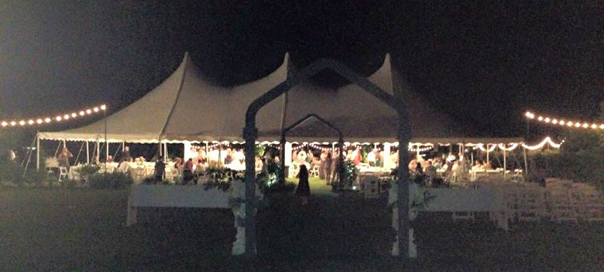 A recent wedding in Jasper, Alabama. Set up behind the customer's house, our tents, tables, chairs...