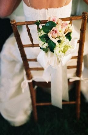 Chair with floral design