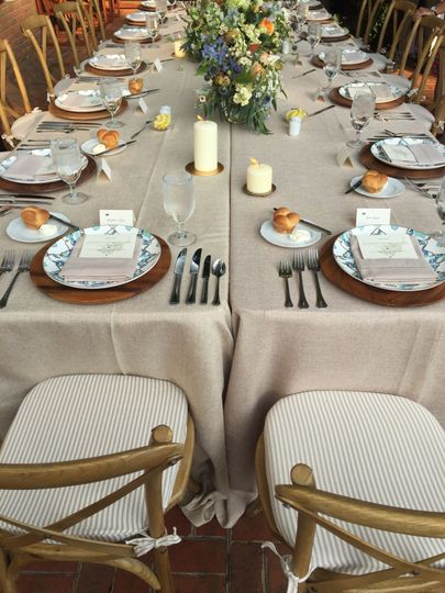 Beautiful family style tablescape!