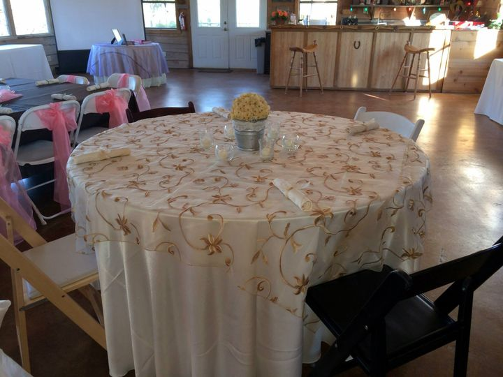 Dining area set-up
