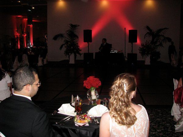 At a wedding reception