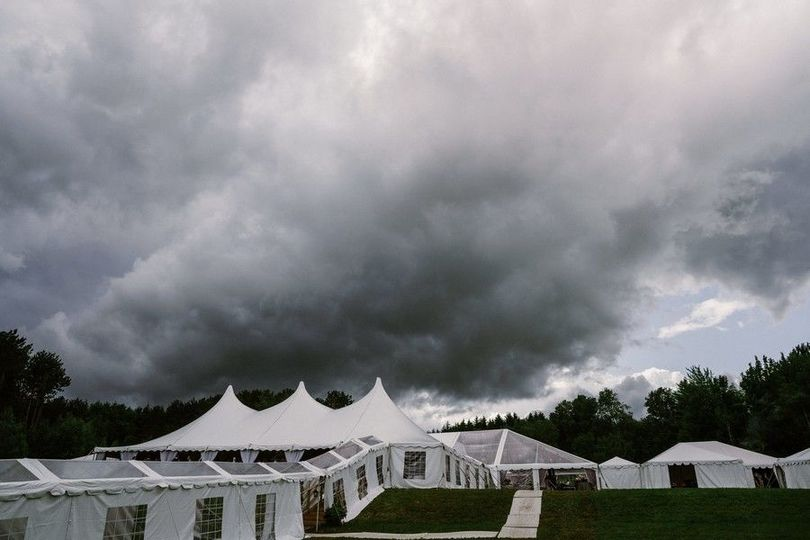 Clouds over the venue