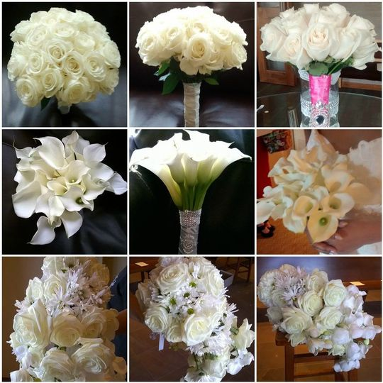 White Bouquets #whitebouquets #ivorybouquets