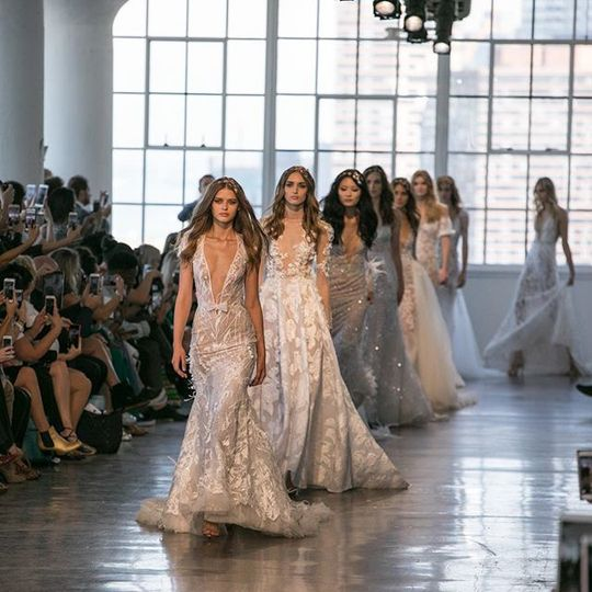 Wedding dress runway show