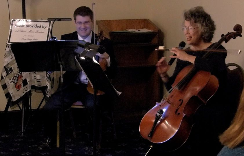 1st Choice Music Services String Duo Danville Country Club, Iroquois Bank Holiday Party