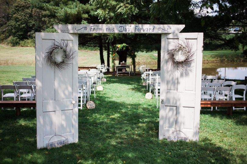 Great outdoor spaces for ceremony selection.