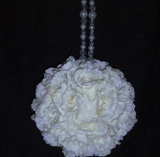 9 in rose flower ball
