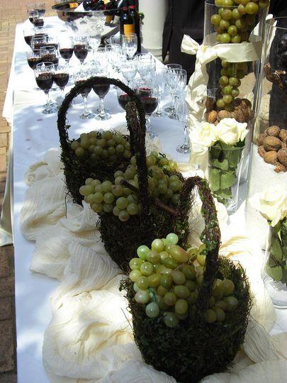 Wine taste  in the vineyard